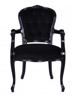 Cd18zbl3vbl dining chair black gloss black velvet front