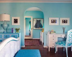 Outsized Your Space with These Inspiring Wall Colors for Small Rooms: Small House Soft Blue Wall Color Choices ~ nidahspa.com Design Ideas Inspiration