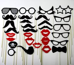 Mustache on a Stick Wedding Favor Party Photo Booth by stickprops