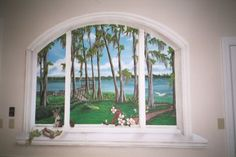 Art Out of Old Windows | looking out a window art effects trompe l oeil window murals are wall ...
