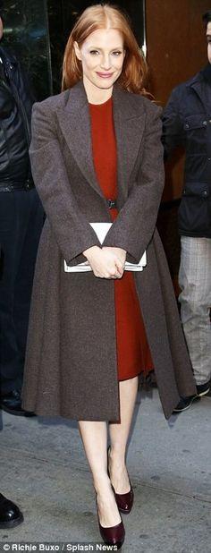 Jessica Chastain. I love the coat