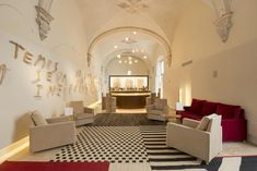 Housed in the old monastery Convent de la Missió dating from the century, this modern and chic hotel boasts an excellent location in the center of. Vaulted Ceilings, Hotel Interiors, 17th Century, Old Town, Hospitality, Spain, Restaurant, Boutique, Interior Design