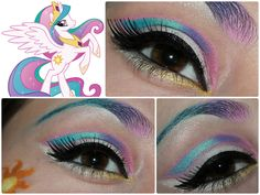 My Little Pony Inspired Makeup : Princess Celestia - Luhivy's favorite things