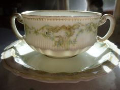 Theodore Haviland Limoges France Double Handled by gracedmoments