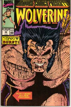 Marvel Comics Presents Wolverine No. 46 (Shadow Burst!): Marvel: Books Marvel Comic Book cover