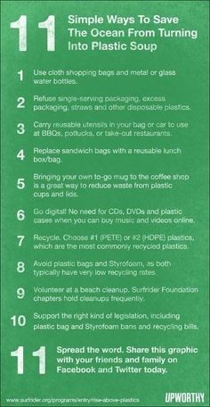 11 Quick Tips to Save Our Oceans from Turning Into Plastic Soup. | elephant journal