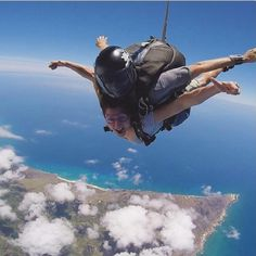 Sky dive on your Hawaii vacay.