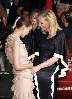 Rooney Mara in Alexander McQueen and Cate Blanchett in Esteban Cortazar - 'Carol' London Film Festival Screening
