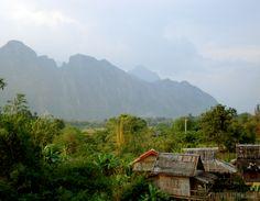 Vang Vieng uitzicht