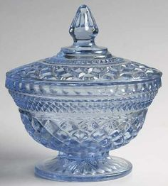 Wexford vintage candy dish in light blue from ... | Antique Candy Dis…