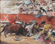 Domingo Fallola, Roberto (París, 1883-Madrid, 1956). Colección privada. Visitar: http://diegoramospintor.blogspot.com.es/2012/12/caballos-y-toros.html