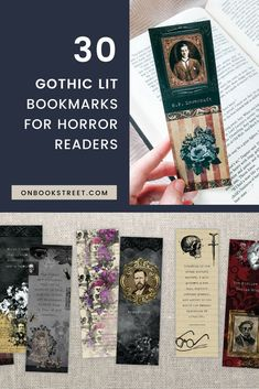 For all lovers of horror books and classic gothic novels, this large set of printable bookmarks features classics like Dracula and Frankenstein Gifts For Bookworms, Gifts For Readers, Gifts For Kids, Printable Bookmarks, Bookmarks Kids, Book Lovers Gifts, Book Gifts, Halloween Gifts, Vintage Halloween