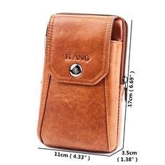 Vintage Genuine Leather 6 inch Phone Waist Crossbody Bag For Men is hot-sale, many other cheap crossbody bags on sale for men are provided on NewChic. Leather Gifts, Leather Bags, Leather Craft, Handmade Leather, Leather Handbags, Leather Wallet, Cheap Crossbody Bags, Belt Pouch, Bum Bag