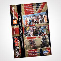 2013 A5 poster design for Milton MX Park Northampton