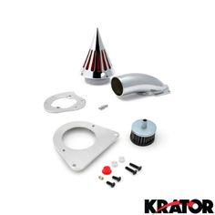 Krator® Motorcycle Chrome Spike Air Cleaner Intake Filter For 1995-2004 Kawasaki Vulcan 800 / VN800A