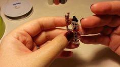 Christmas Crafts: Tutorial para hacer un muñeco de nieve con abalorios.