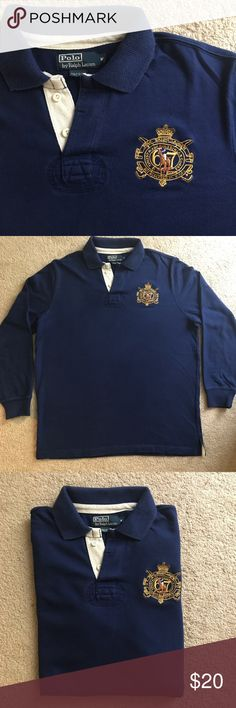 Polo Ralph Lauren Rugby Polo Limited Edition, Finest Made Equestrian Goods 67 Polo Ralph Lauren Rugby polo. Its embroidery is like no other, and it is in great condition! Polo by Ralph Lauren Shirts Polos