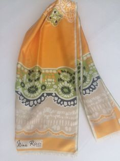 Soft Polyester Silk Hair Bandana Scarf Fashion Print Teapots Cups And Flowers Hair Bands Scarf Girl Scarf Square Scarfs Multiple Ways Of Wearing Daily Decor