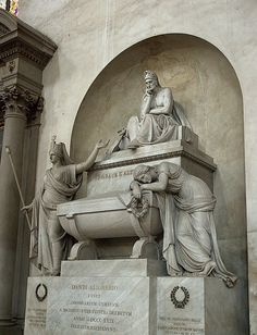 Dante's Tomb - Basilica of Santa Croce - Florence - Italy