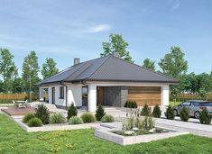 Murator M249 Wygodny - zdjęcie 1 Home Art, Gazebo, House Plans, Backyard, Outdoor Structures, House Design, How To Plan, Outdoor Decor, Plants