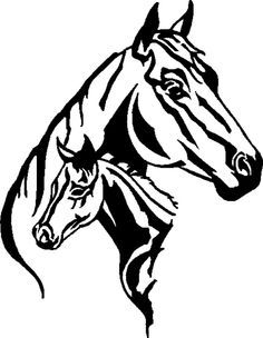 Horse - Mare and Foul Silhouette Horse Stencil, Stencil Art, Stencils, Stencil Wood, Silhouette Pictures, Animal Silhouette, Horse Head, Horse Art, Free Horses