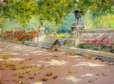 Sunlight and Shadow in Prospect Park (also known as Sunlight and Shadow) William Merritt Chase - circa 1887