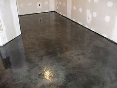 How to Acid Stain Concrete. Applying acid stain to concrete can give new life to plain, and otherwise dull looking surfaces. Acid stains can give concrete a look of deep marbling, along with a color…More Basement Flooring, Basement Remodeling, Flooring Ideas, Basement Ideas, Dark Basement, White Flooring, Basement Layout, Timber Flooring, Bedroom Flooring