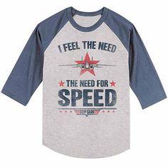 Top Gun Needing Speed Gray T-Shirt
