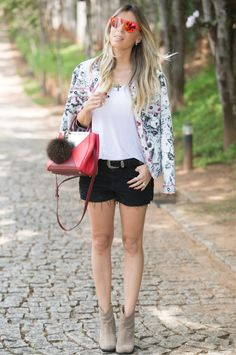 LOOK DO DIA CASACO ESTAMPADO