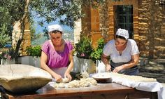 An organic farm near Rethymno in the island's north-west, teaches visitors traditional skills. Our writer mucks in