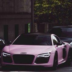 #Audi #R8 #AudiR8 #pink #girly #luxury #rosa #lusso