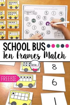 Practice counting and subitizing with these adorable school bus ten frames matching activities. Subitizing Activities, Ten Frame Activities, Math Activities For Kids, Back To School Activities, Preschool Math, School Fun, Middle School, Math 2, Numeracy