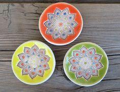 Ceramic Mandala ring holder small ceramic dish by potteryhearts