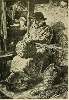 skep beehive weaving.  The life and letters of Frederic Shields (1912)