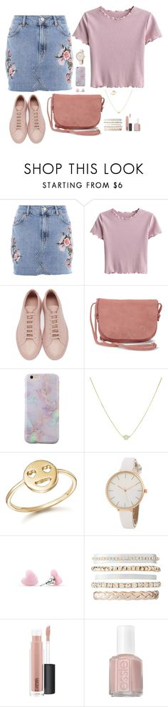 """Untitled #1239"" by nine-nine ❤ liked on Polyvore featuring Topshop, Common Projects, TOMS, Bing Bang, Charlotte Russe, MAC Cosmetics and Essie"