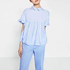 Новинка кадрированные женщины летом воротник с лацканами блузки леди раза лотоса рукава свободную рубашку топы с луком LBBI0510 2 купить на AliExpress