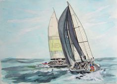 AMERICAS CUP sailing ORACLE by stephenlepp on Etsy, $2500.00