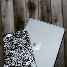 Titanium Black Crystalline Case for iPhone 6 Plus with a Space Gray iPad Mini