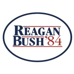 #Reagan and Bush for 1984 presidential election #GOP #conservative