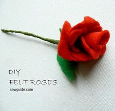 Rose Embroidery - 12 ways to make embroidered roses easily - Sew Guide Felt Roses, Felt Flowers, Fabric Flowers, Rose Crafts, Flower Crafts, Craft Flowers, Flower Diy, Flower Ideas, Flower Making