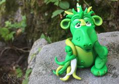 Polymer Clay Dragon 'Evie'  Limited Edition by KatersAcres on Etsy