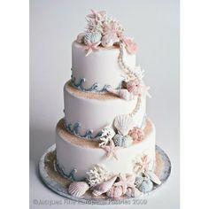 Seaside Wedding Cakes found on Polyvore
