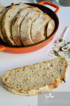 10 Minuets : Reyhan, Basil and Oregano Sour Yeast Bread - Healthy Kitchen Yeast Bread, Sourdough Bread, Healthy Banana Bread, No Cook Meals, Bread Recipes, Basil, Brunch, Food And Drink, Cooking