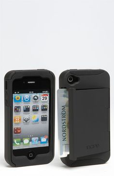 I NEED THIS! Anyone who knows me knows I ALWAYS but my credit card and ID inside my iPhone case. With this case there is a convenient slot for them. Incipio Stowaway iPhone 4 & 4S Case.
