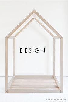 b o n n e s o e u r s Interior Desing, Residential Interior Design, Parents Room, Kids Room, House Frame Bed, Nursery Office, Gabion Wall, Montessori Room, Nursery Inspiration