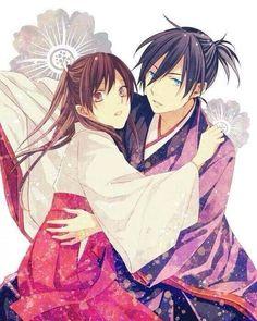 noragami yato y hiyori - kimono 2 Yatogami Noragami, Anime Noragami, Yato And Hiyori, Fanart Manga, Manga Anime, God Of War, Me Me Me Anime, Anime Love, Anime Couples
