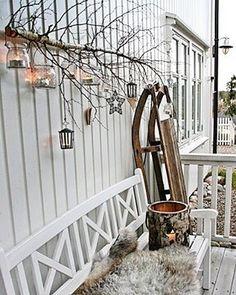 Winter home - vibeke design Classy Christmas, Nordic Christmas, Outdoor Christmas, Winter Christmas, Christmas Home, Beautiful Christmas, Christmas Tables, Cheap Christmas, Modern Christmas