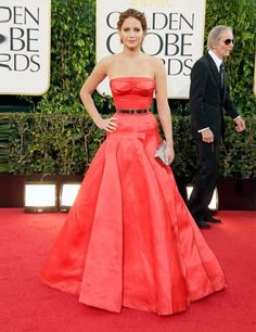 Jennifer Lawrence in Dior Haute Couture - Golden Globes 2013