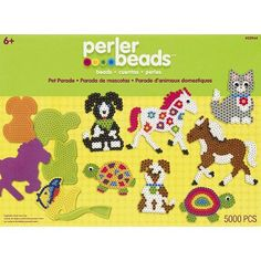 Sago Brothers Fuse Beads Boards Hexagon Round Pegboards for Kids Set... Square
