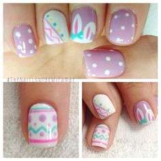 cute easter nail art